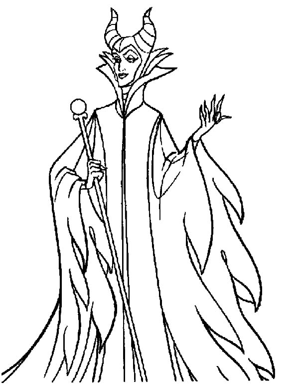 Walt Disney Maleficent Coloring Pages