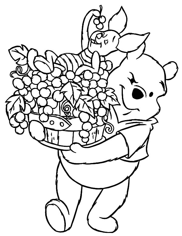 Free printable coloring pages part 6 for Winnie the pooh thanksgiving coloring pages