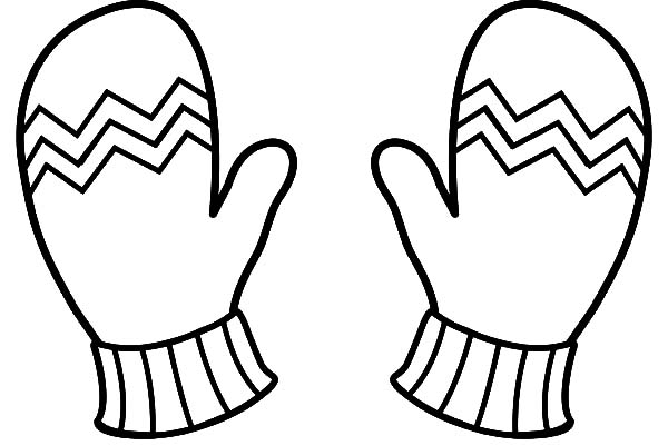 Winter Clothes Mittens Coloring Pages  Color Luna