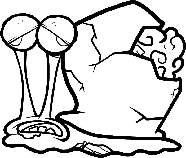 Zombie Gary the Snail Coloring Pages Color Luna