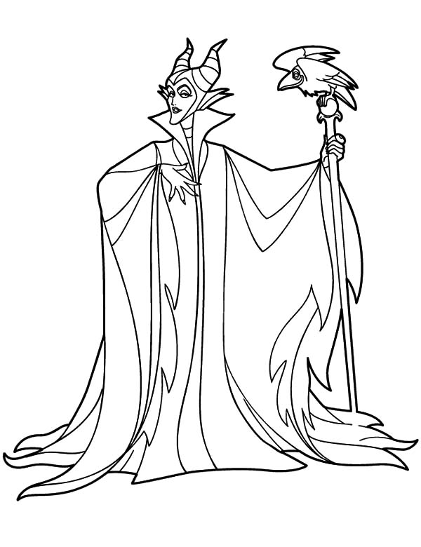 maleficent printable coloring pages 07 Color Luna