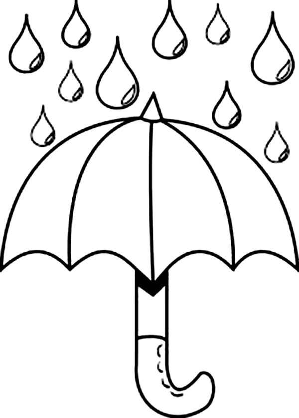 Nice Picture Of Raindrop And Umbrella Coloring Page ...