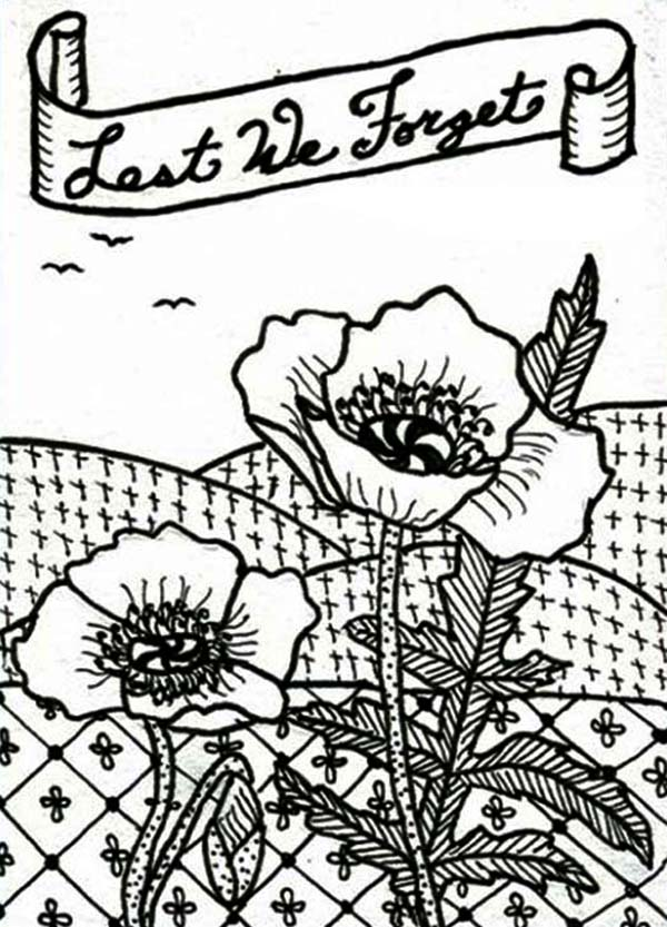 remembrance day poppies coloring pages - photo#17