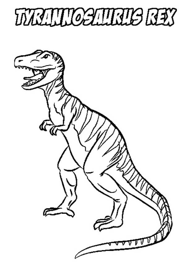 Stripping T Rex Coloring Page | Color Luna