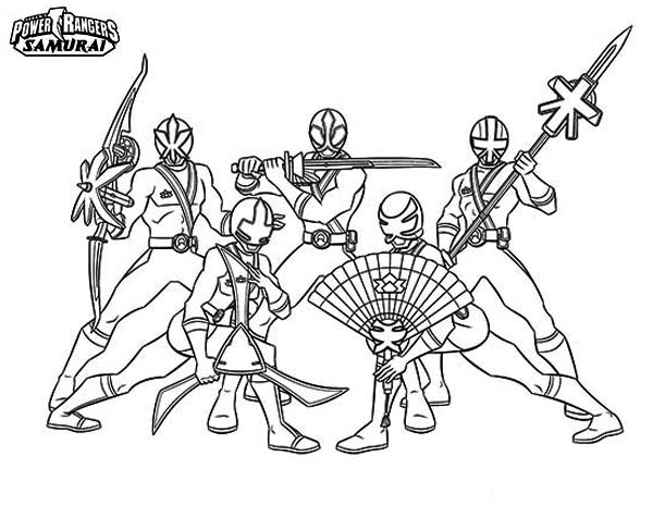 amazing power rangers samurai coloring page
