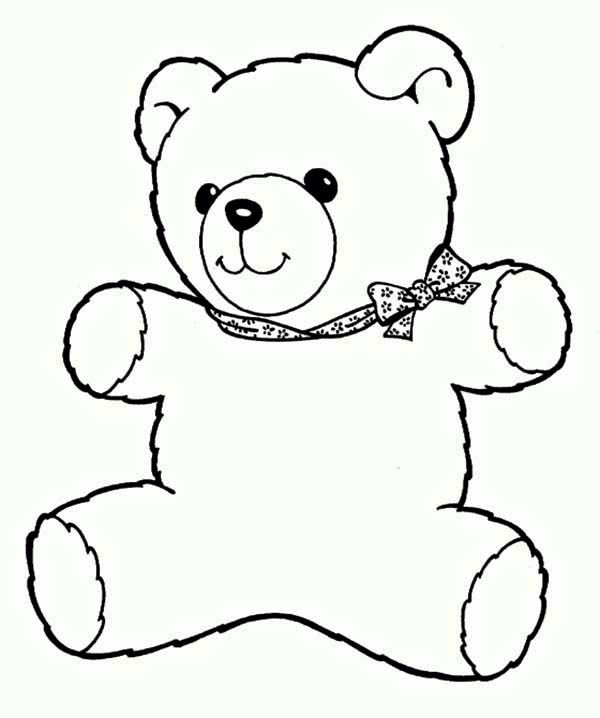 Freddy the Teddy Bear Coloring Page | Color Luna