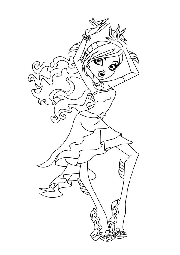 lagoon coloring pages | Lagoona Blue From Monster High Coloring Page : Color Luna