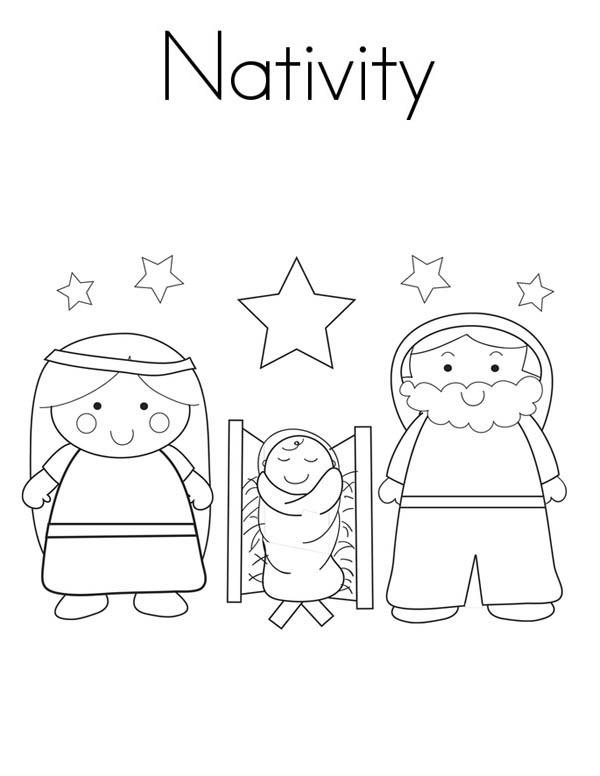 Nativity Coloring Page for Kids | Color Luna