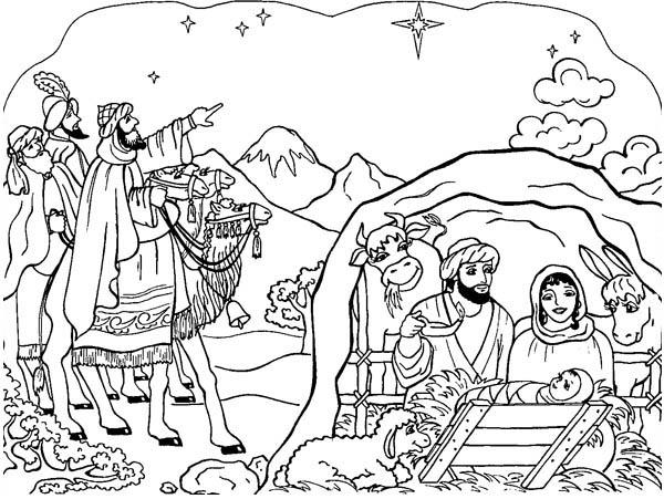 Nativity Scene Coloring Page: Nativity Scene Coloring Page ...