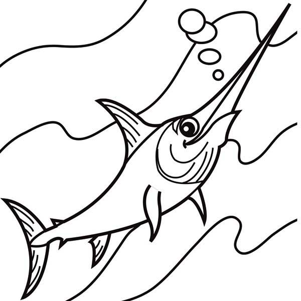 S Is For Swordfish Coloring Page Color Luna