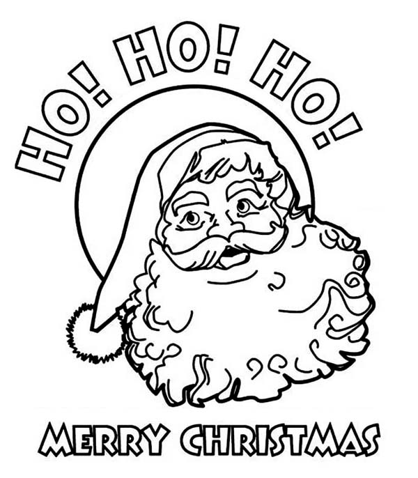 Ho Ho Ho and Joyful Happy Merry Christmas from Santa Claus ...