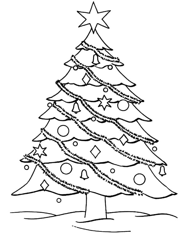 Decorate Your Christmas Trees Coloring Pages | Color Luna