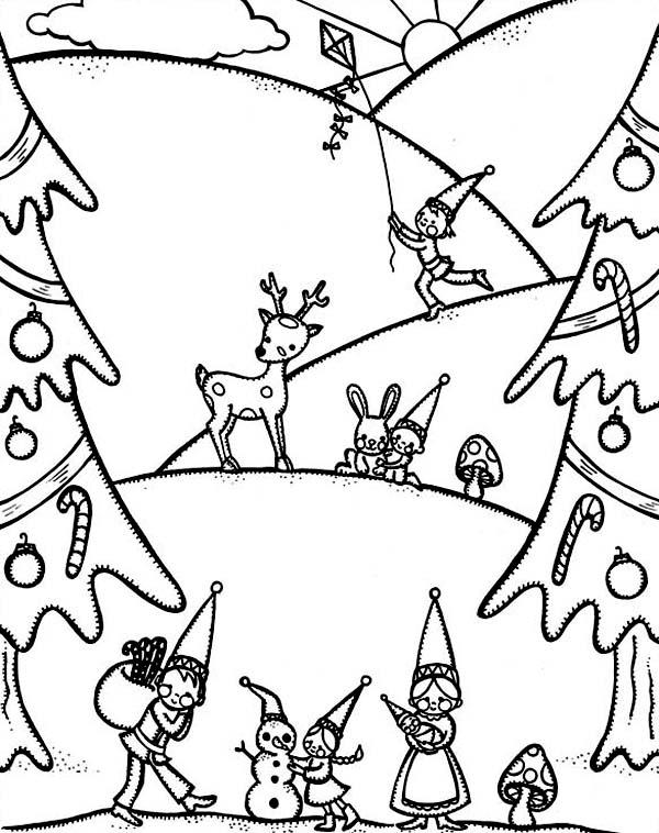 Happy Winter Season And Christmas Event Coloring Page ...