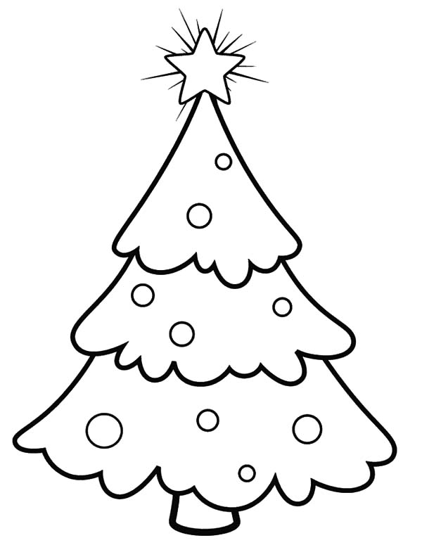 Snowy Christmas Trees Coloring Pages | Color Luna