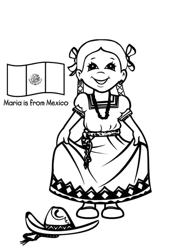 Mexican Hat Dance Coloring Page Coloring Pages
