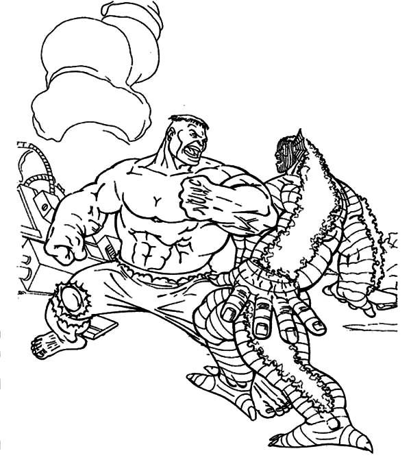 Zilla Versus Hulk Coloring Pages Color Luna