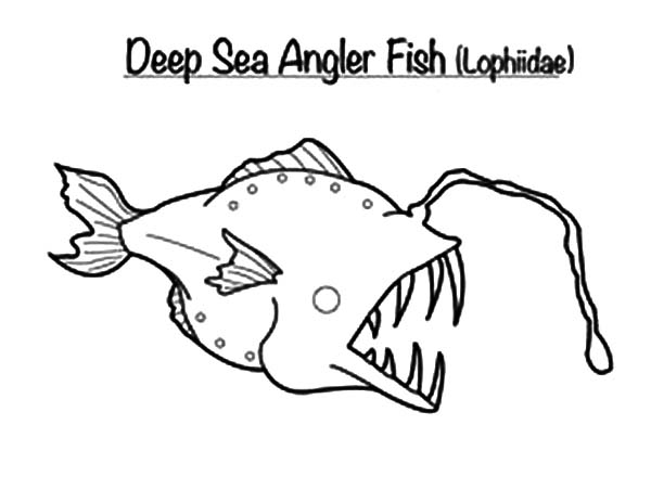 Monster Fish in the Deep Sea Coloring Pages | Color Luna