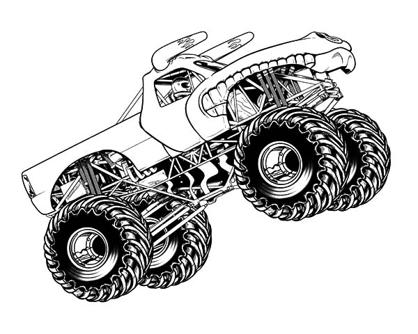 How to Draw Monster Jam Truck Coloring Pages   Color Luna
