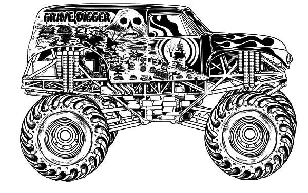 Monster Truck Avenger Monster Jam Coloring Pages | Color Luna