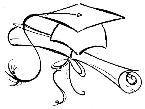 graduation caps coloring pages coloring pages