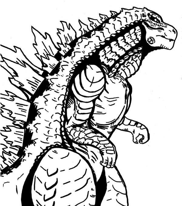 Sea Monster Godzilla Coloring Pages | Color Luna
