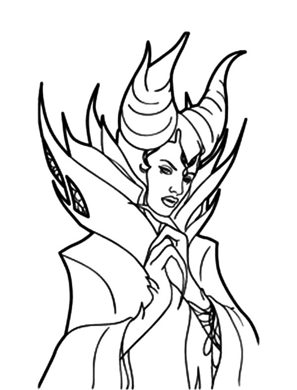 Sleeping Beauty Maleficent Coloring Pages | Color Luna