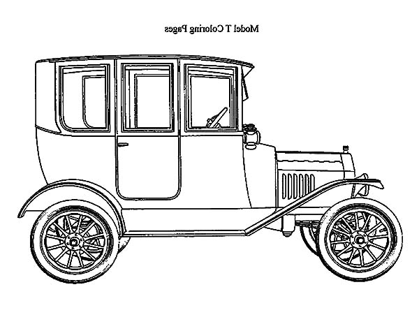 model t ford coloring page