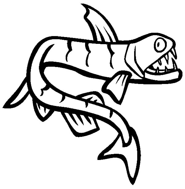 Viperfish Is One Of Monster Fish Coloring Pages : Color Luna