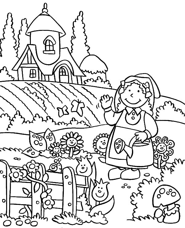 Welcome to My Lovely Garden Coloring Pages | Color Luna